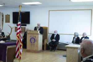 New ER Bob Coffin addressing attendees