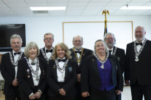 Newly installed officers